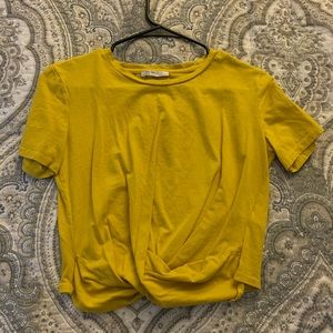 Zara Yellow Crop Top